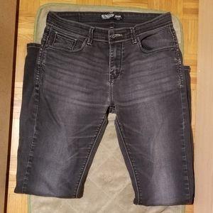 Wmns ENGINE JEANS Black Distressed Jeans (Size 32)